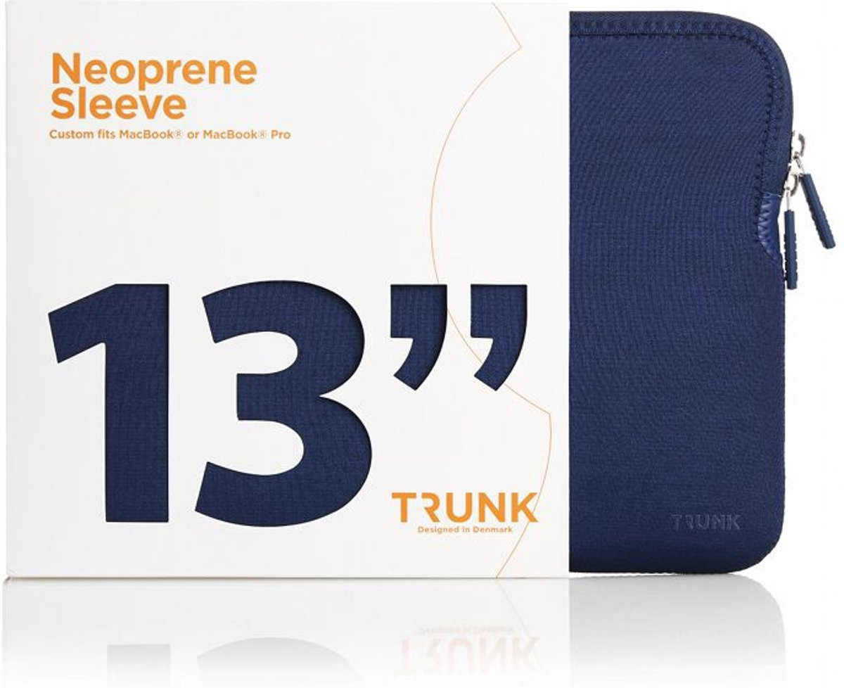 Trunk 13 inch Macbook Pro Sleeve Navy