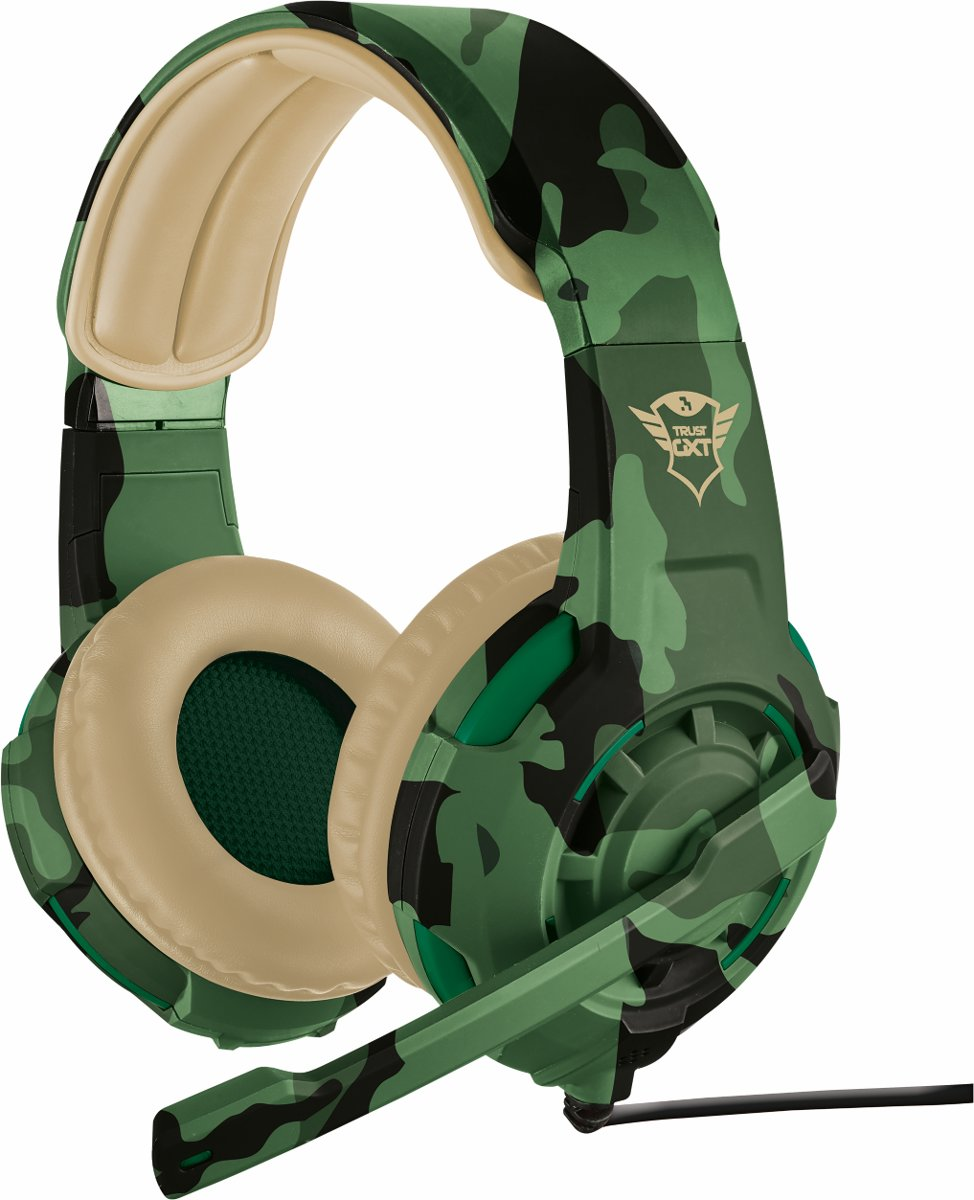 Trust GXT 310 Radius - On-ear Gaming Headset (PC + PS4 + Xbox One) - Jungle Camouflage
