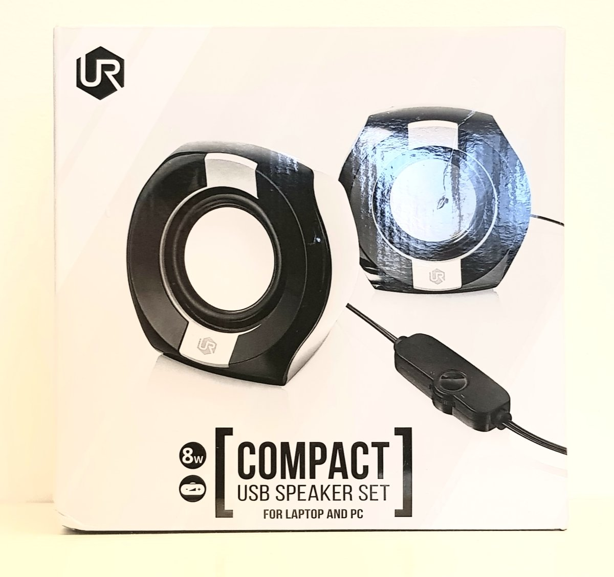 Urban Compact 2.0 Speakerset for Laptop and PC Black/White