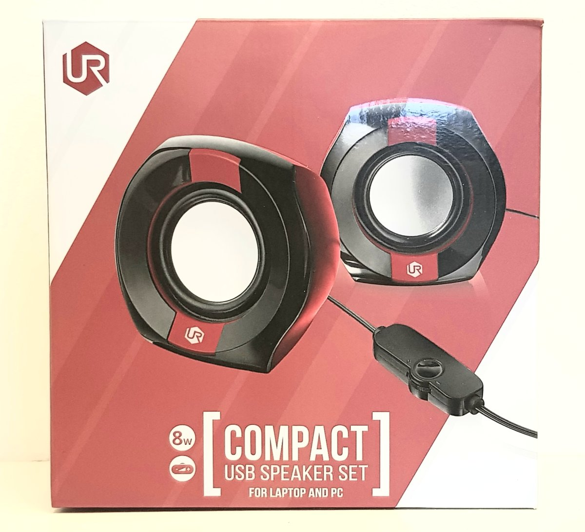 Urban Compact Speakerset for Laptop and PC Black/Red