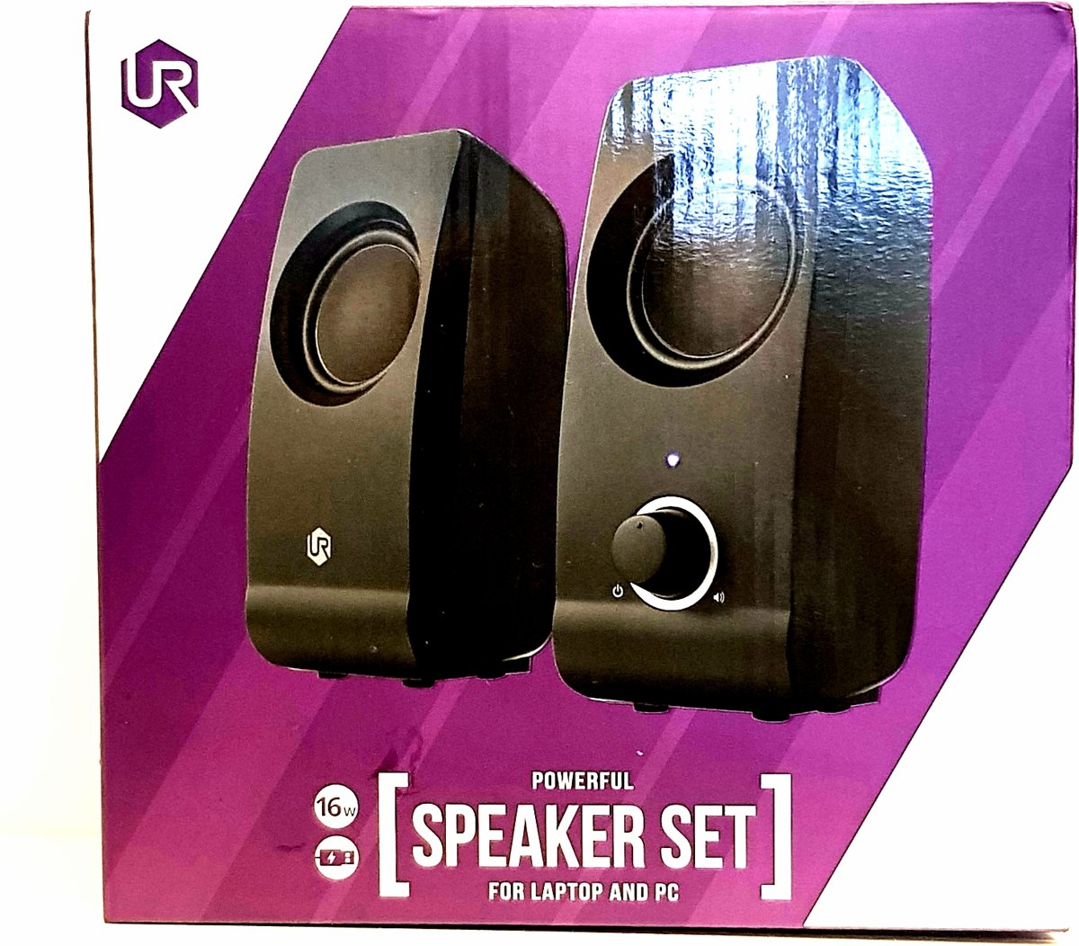 Urban powerful Speakerset For Laptop and PC. Black.