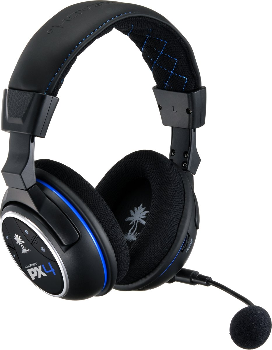 Ear Force PX4 Wireless 5.1 Virtueel Surround Gaming Headset - Zwart (PS4 + PS3 + Xbox 360 + Mobile)