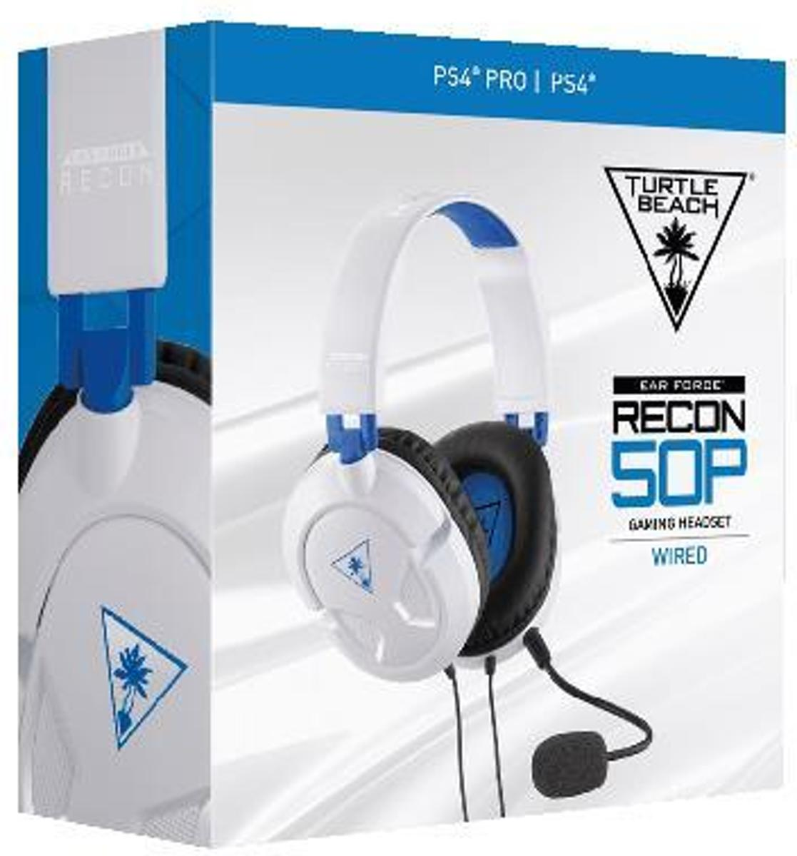 Turtle Beach Ear Force Recon 50P Gaming Headset (Wit) PS4