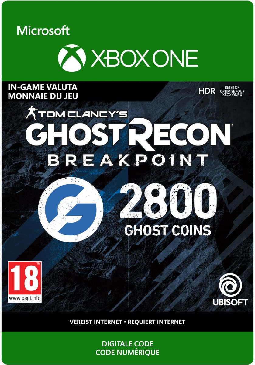 Ghost Recon Breakpoint: 2400 +400 bonus Ghost Coins - Xbox One Download