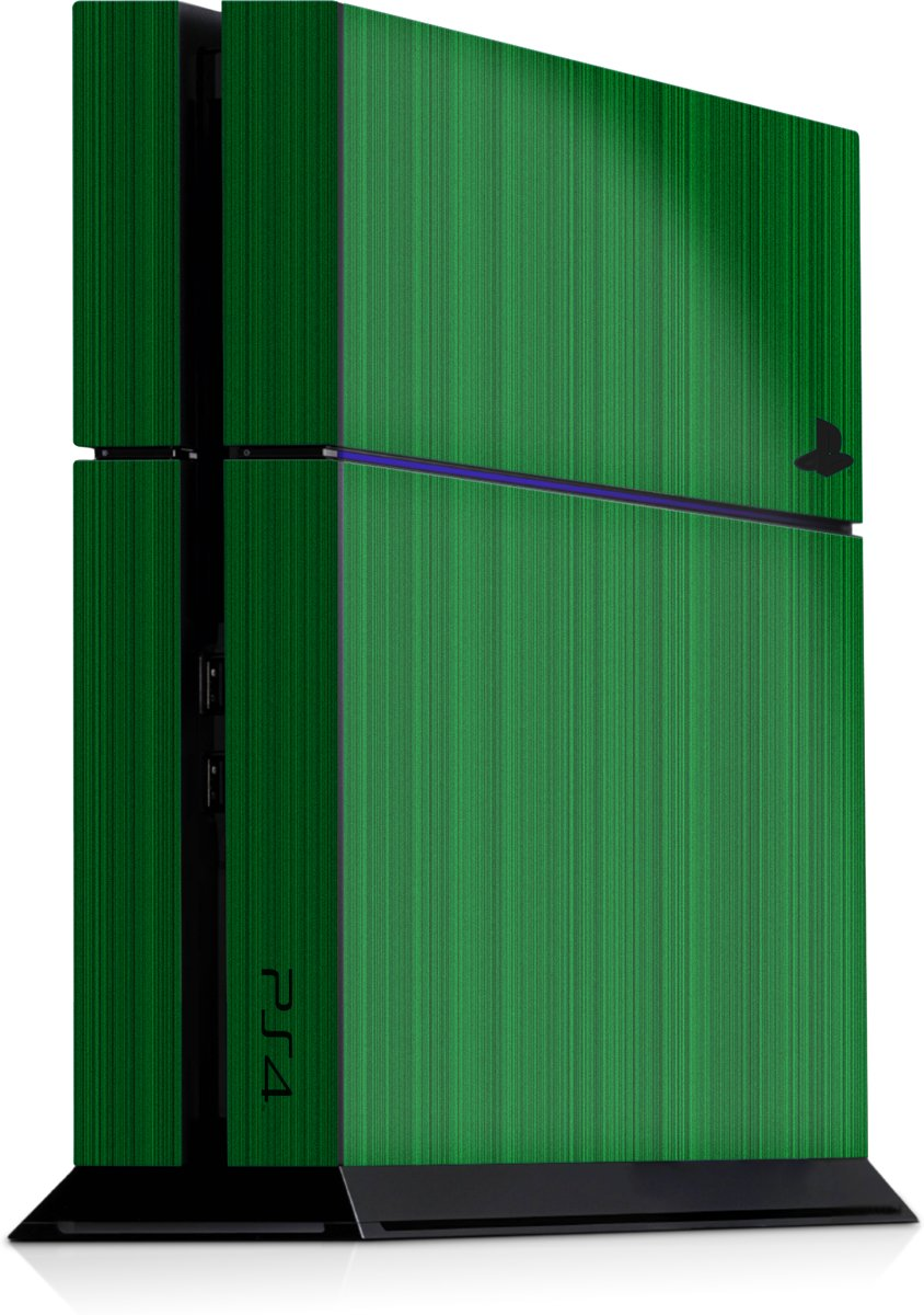 Playstation 4 Console Skin Brushed Groen