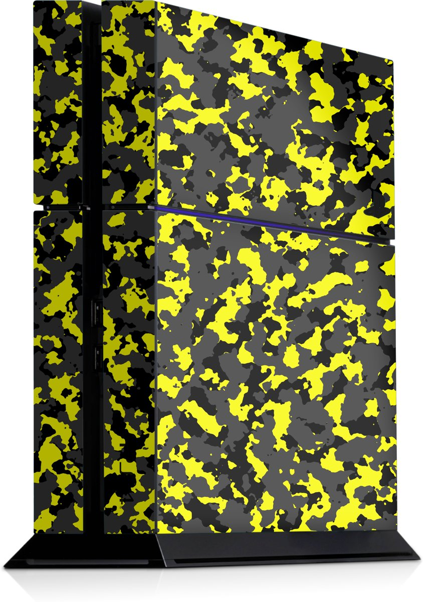 Playstation 4 Console Skin Camo Geel