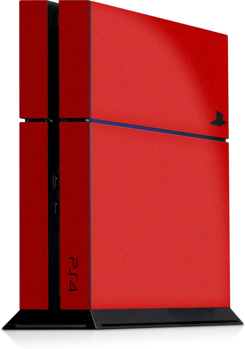 Playstation 4 Console Skin Faded Rood