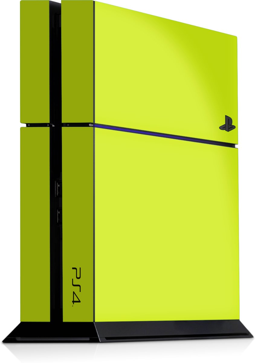 Playstation 4 Console Skin Geel