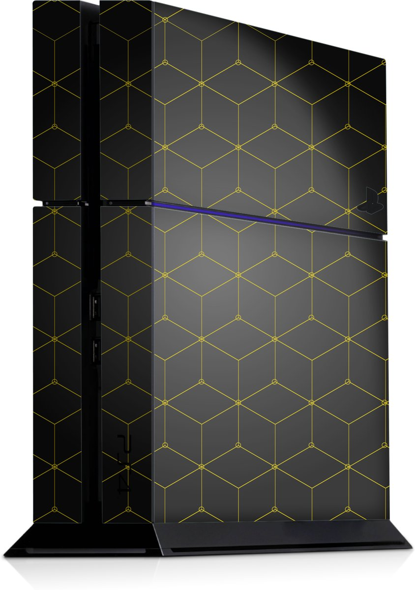 Playstation 4 Console Skin Hexagon Geel