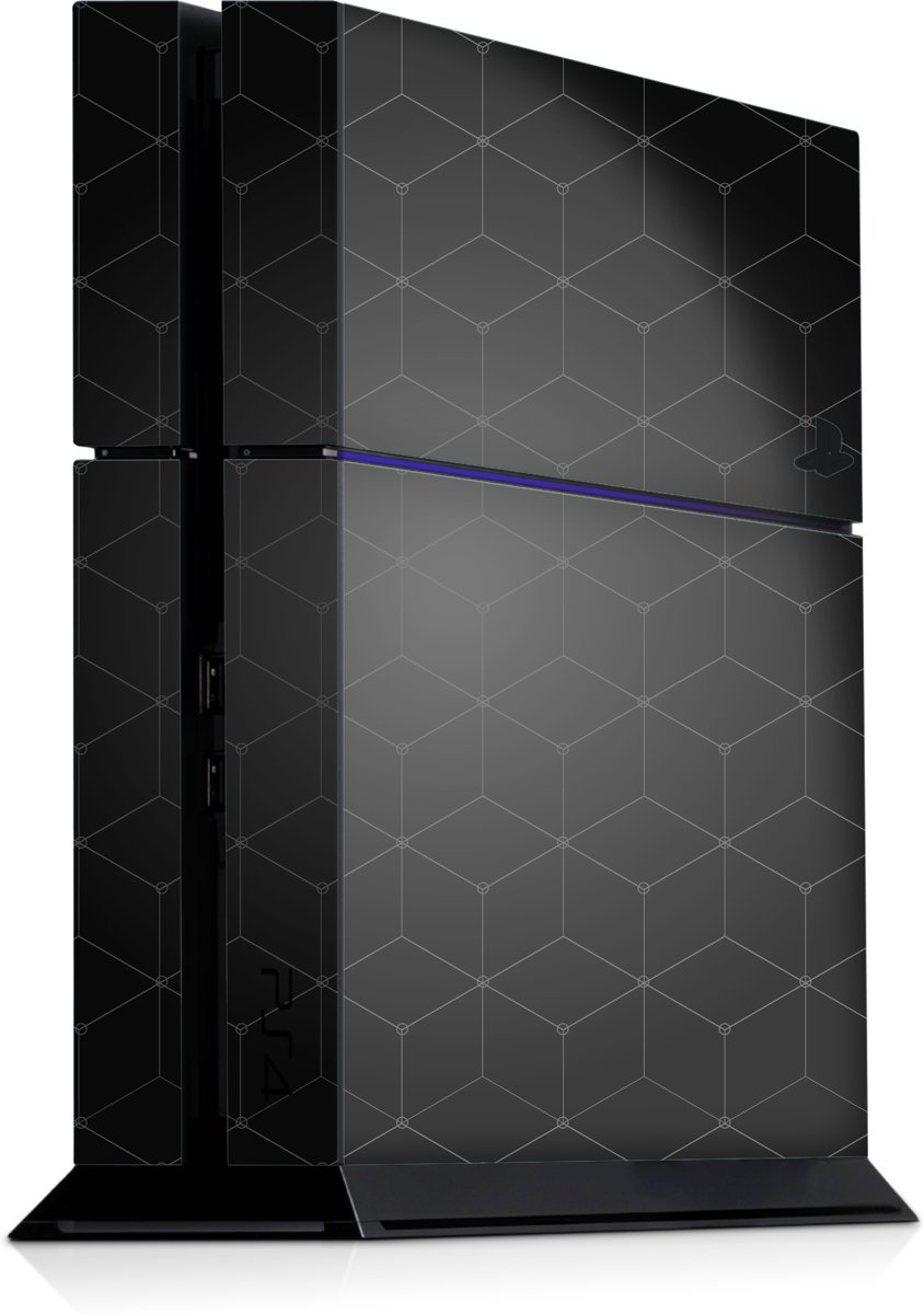 Playstation 4 Console Skin Hexagon Grijs