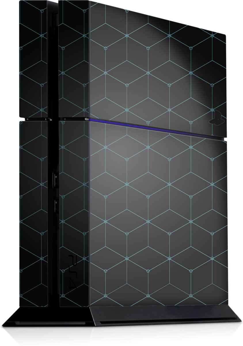 Playstation 4 Console Skin Hexagon LichtBlauw