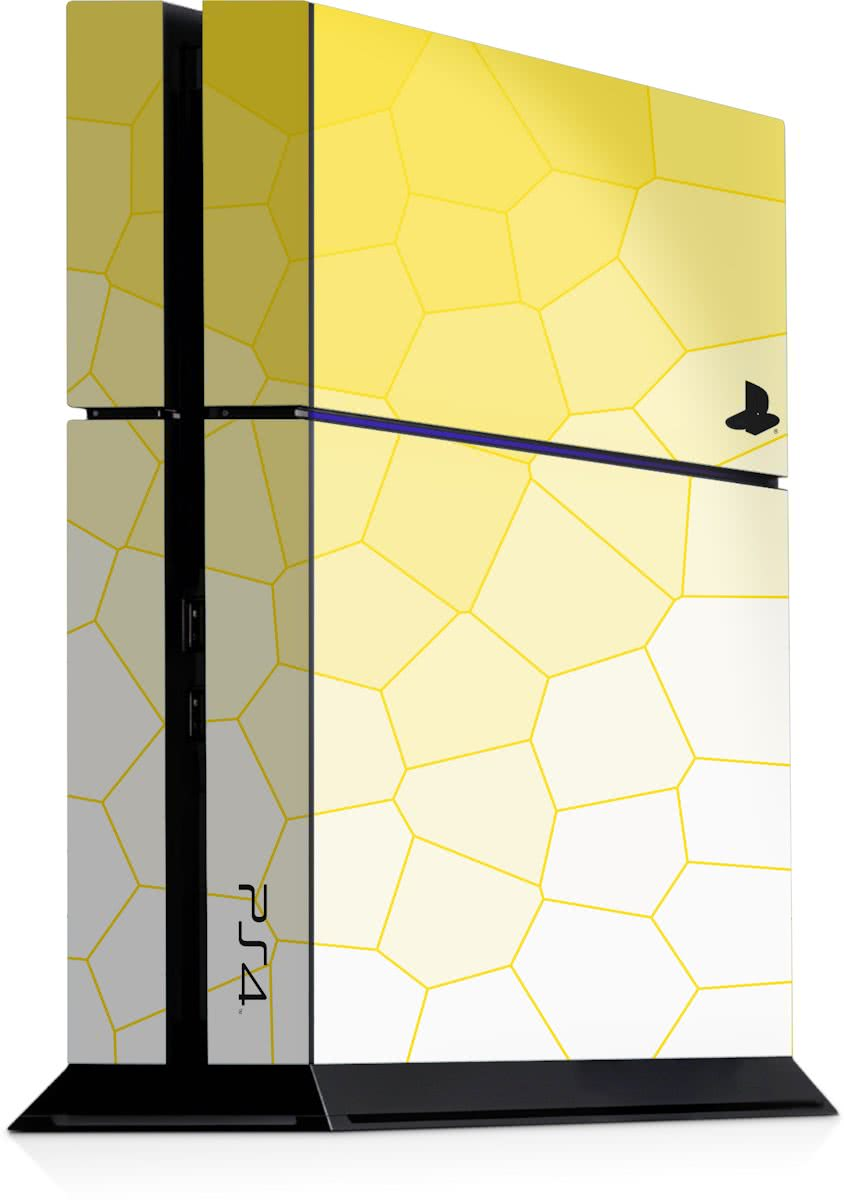 Playstation 4 Console Sticker Bio Cells Geel-PS4 Skin