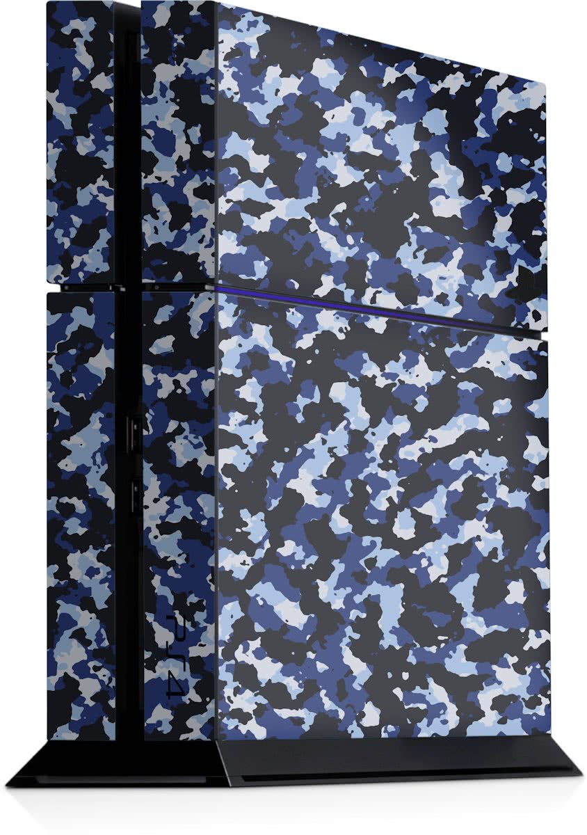 Playstation 4 Console Sticker Camouflage Blauw-PS4 Skin