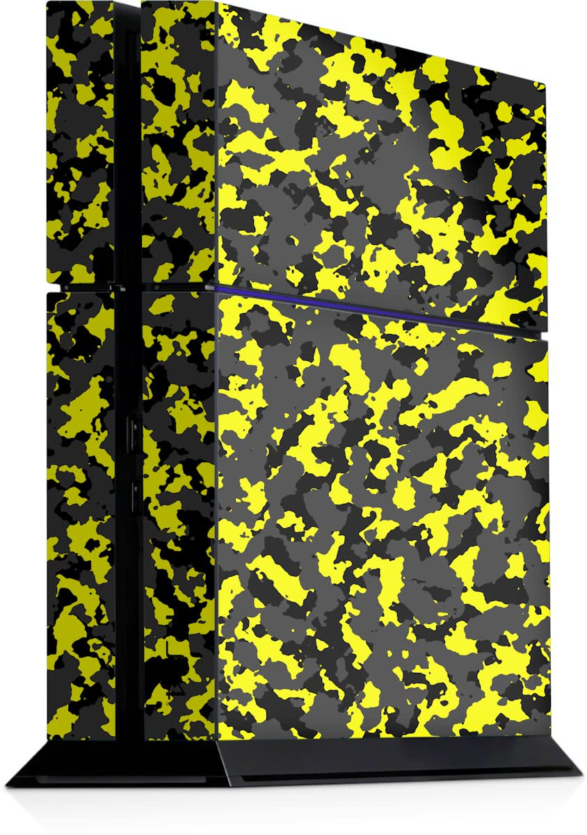 Playstation 4 Console Sticker Camouflage Geel-PS4 Skin