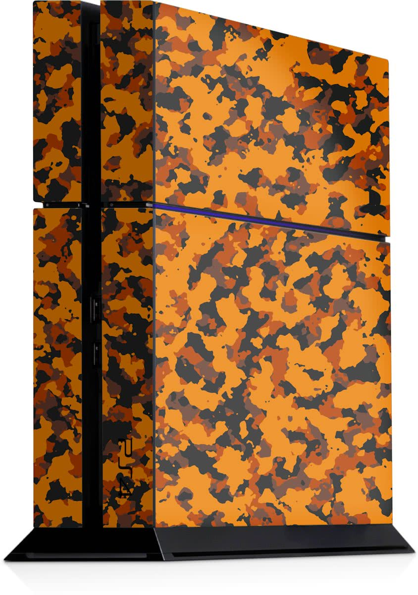 Playstation 4 Console Sticker Camouflage Oranje-PS4 Skin