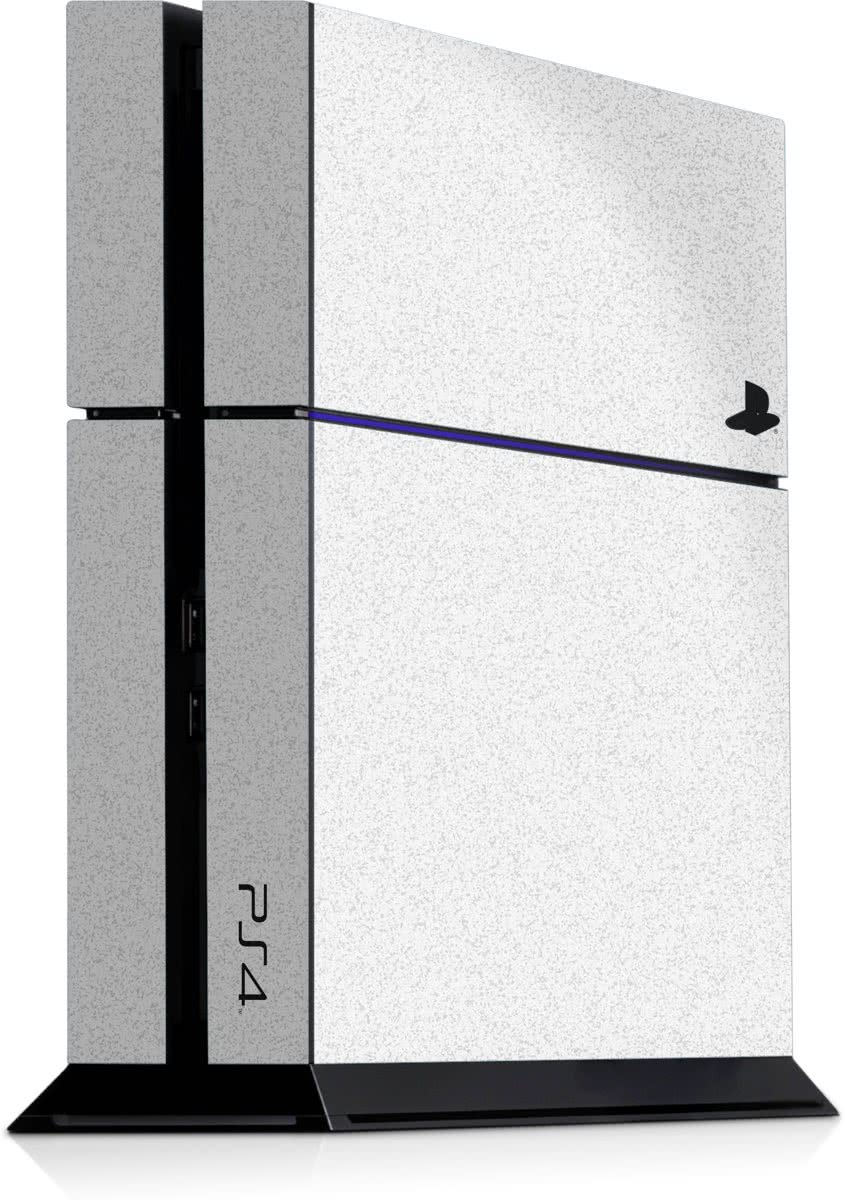 Playstation 4 Console Sticker Faded wit-PS4 Skin