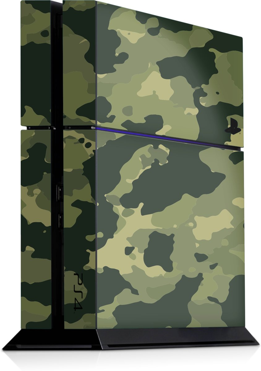 Playstation 4 Console Sticker Rustige Camouflage Groen-PS4 Skin