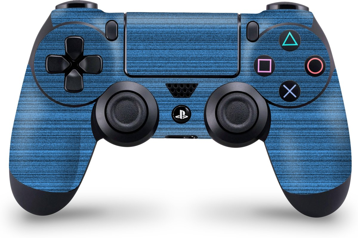 Playstation 4 Controller Skin Brushed Blauw- PS4 Controller Sticker