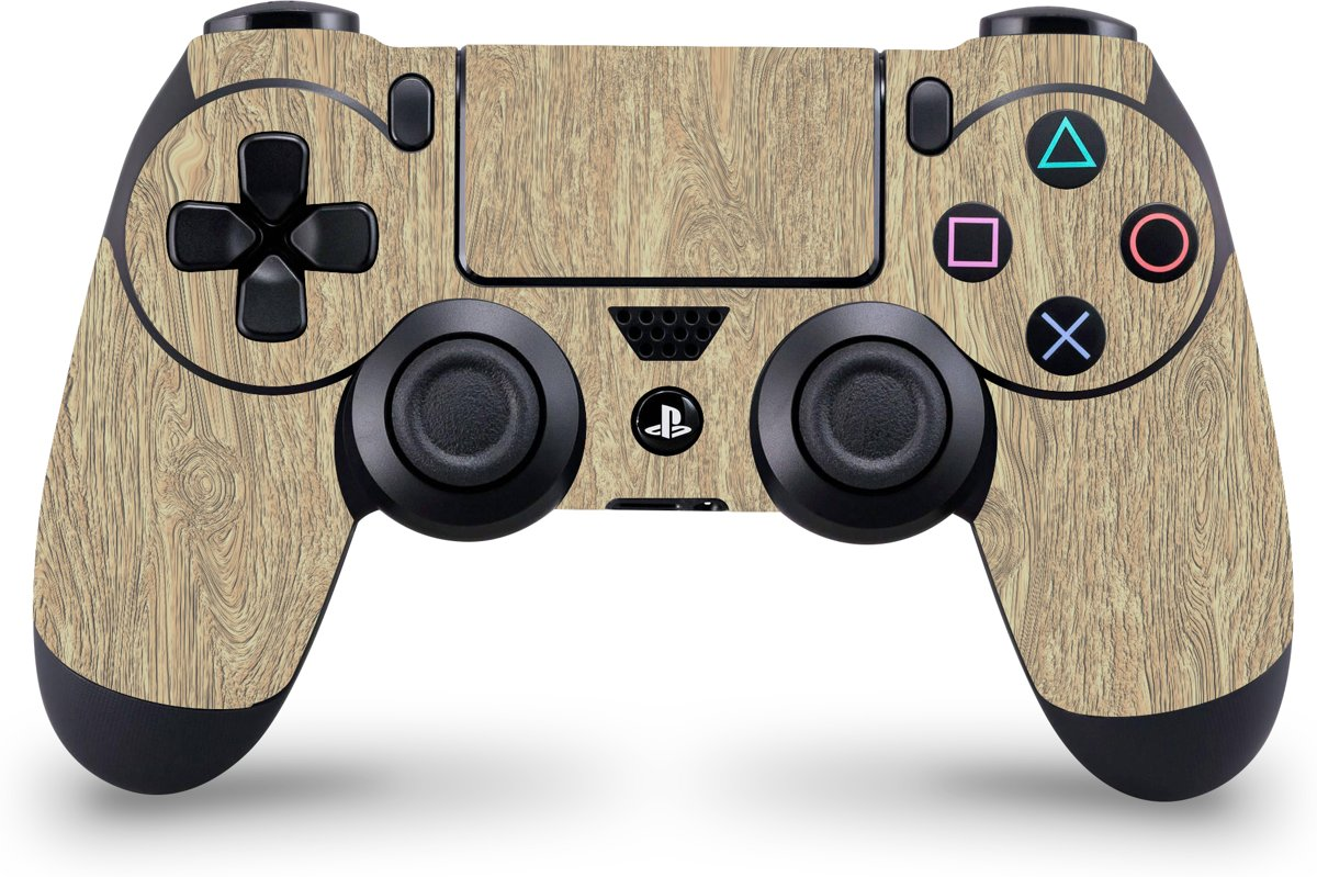 Playstation 4 Controller Skin Licht Hout- PS4 Controller Sticker