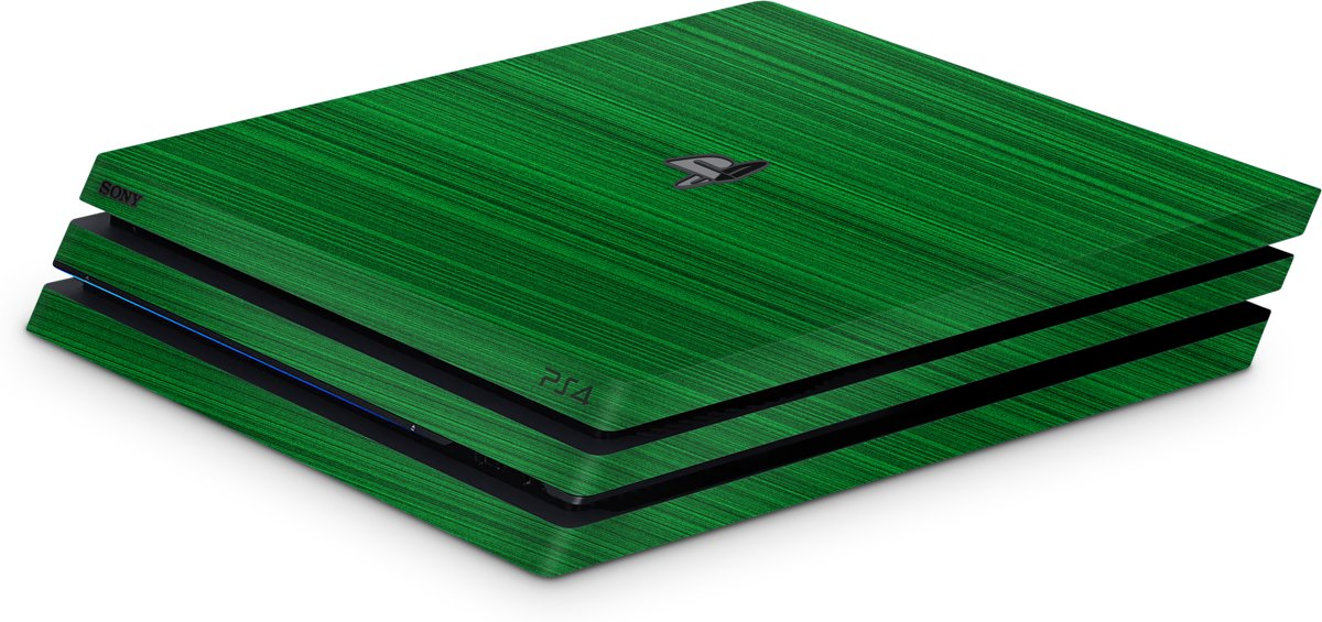 Playstation 4 Pro Console Skin Brushed Groen