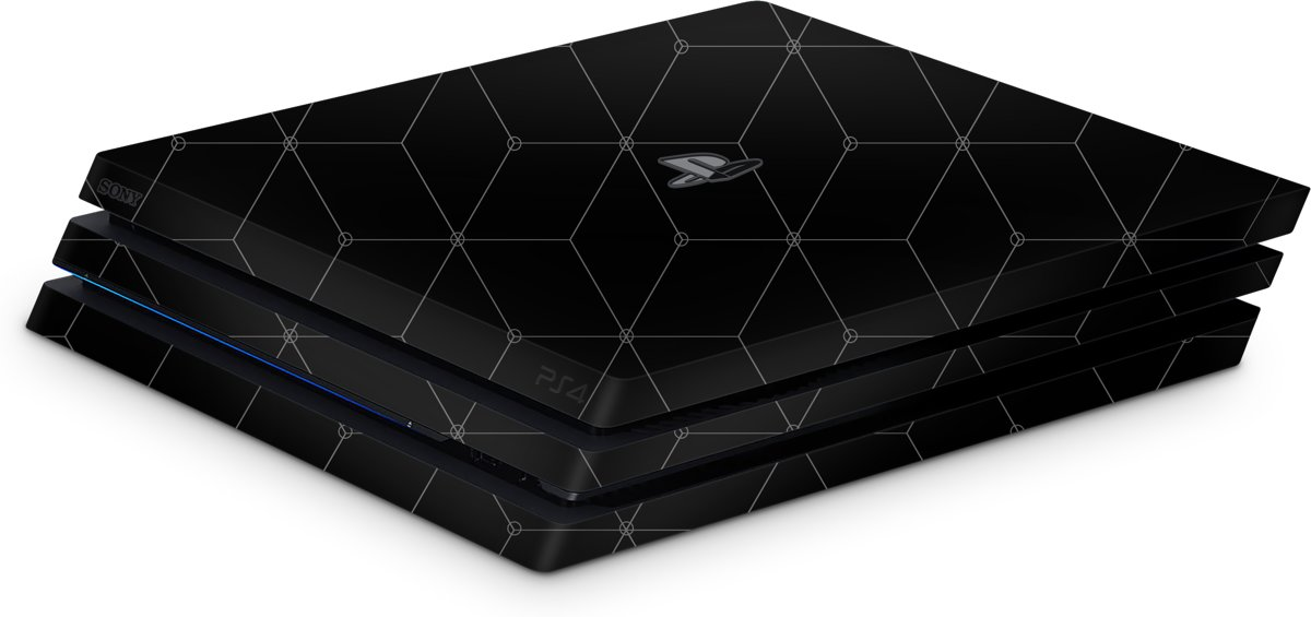 Playstation 4 Pro Console Skin Hexagon Grijs