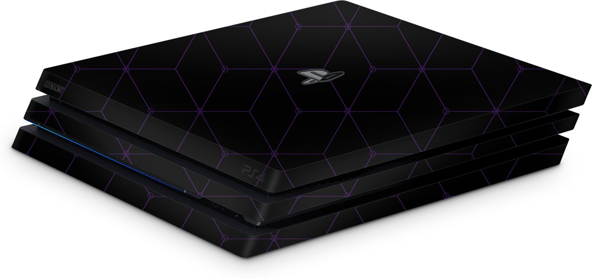 Playstation 4 Pro Console Skin Hexagon Paars