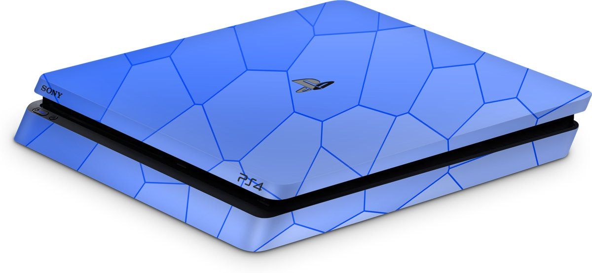 Playstation 4 Slim Console Skin Bio Cells Blauw-PS4 Slim Sticker