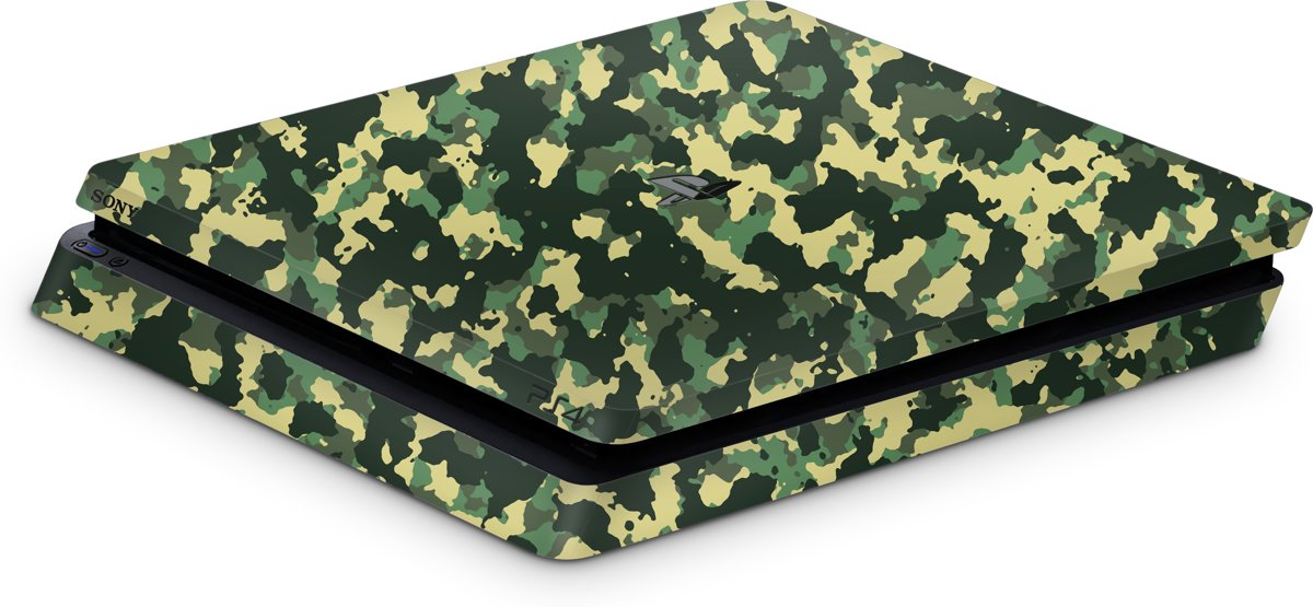 Playstation 4 Slim Console Skin Camo Groen-PS4 Slim Sticker