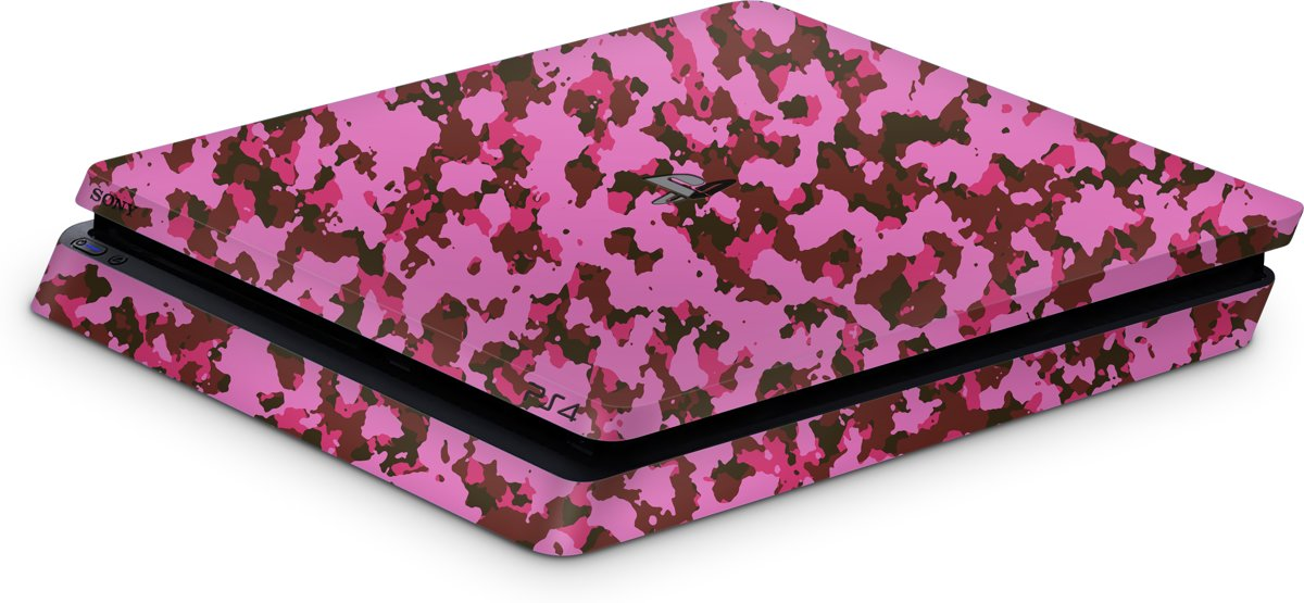 Playstation 4 Slim Console Skin Camo Roze