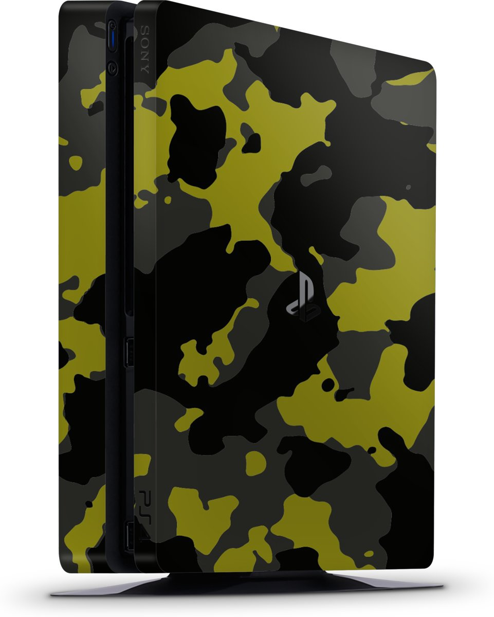 Playstation 4 Slim Console Skin Camouflage Geel-PS4 Slim Sticker