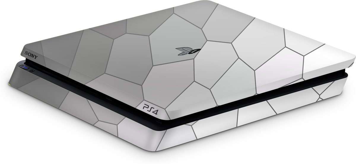 Playstation 4 Slim Console Skin Cell Grijs