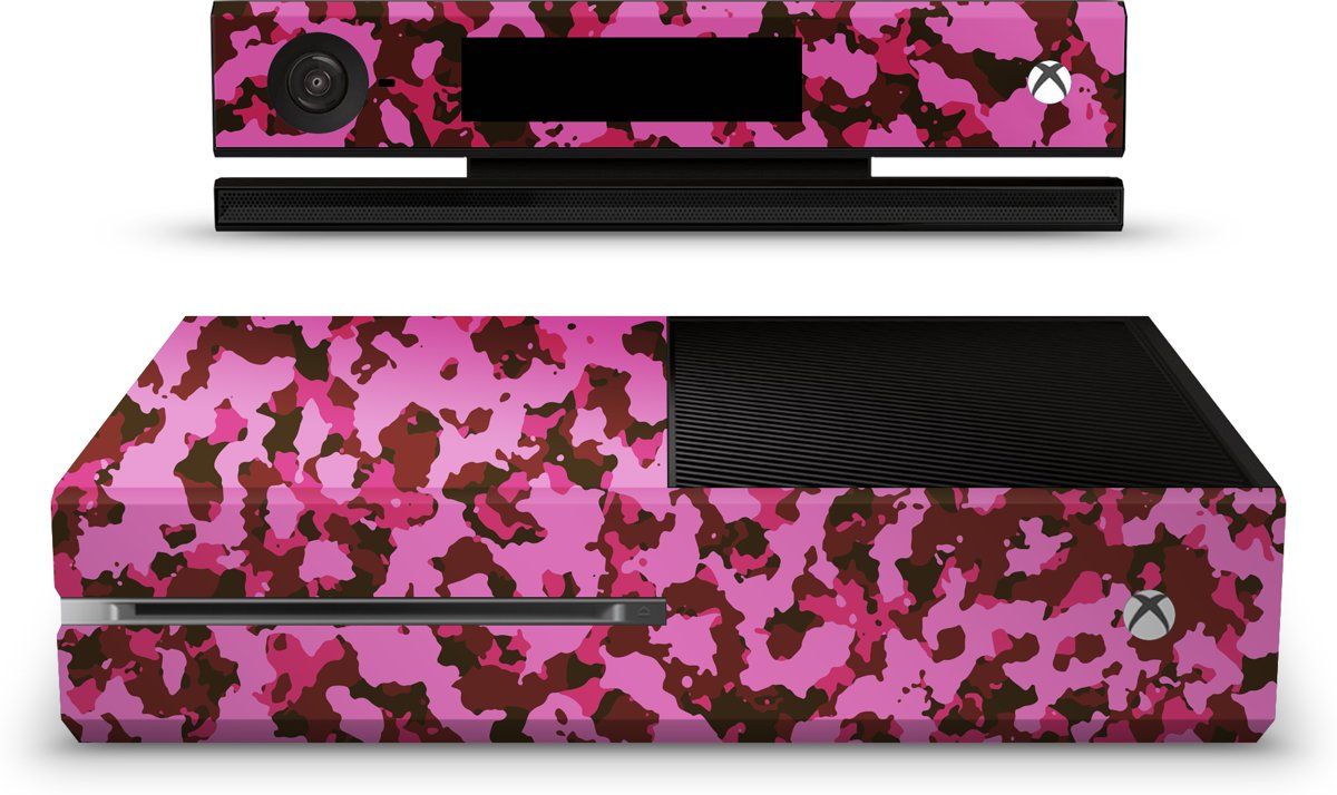 Xbox One Console Skin Camouflage Roze