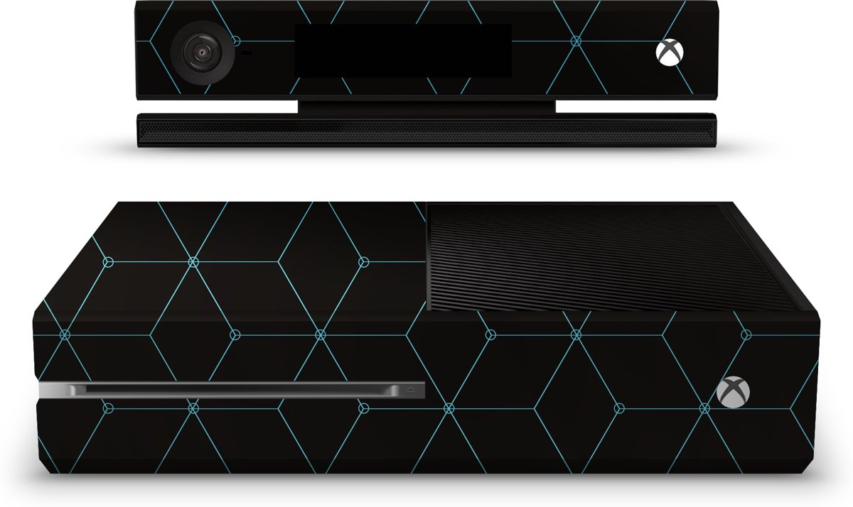Xbox One Console Skin Hexagon Blauw