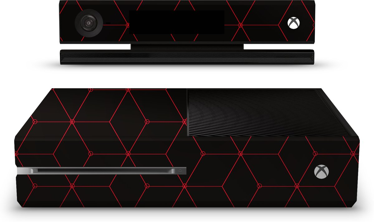Xbox One Console Skin Hexagon Rood