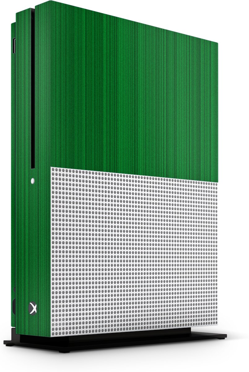 Xbox One S Console Skin Brushed Groen