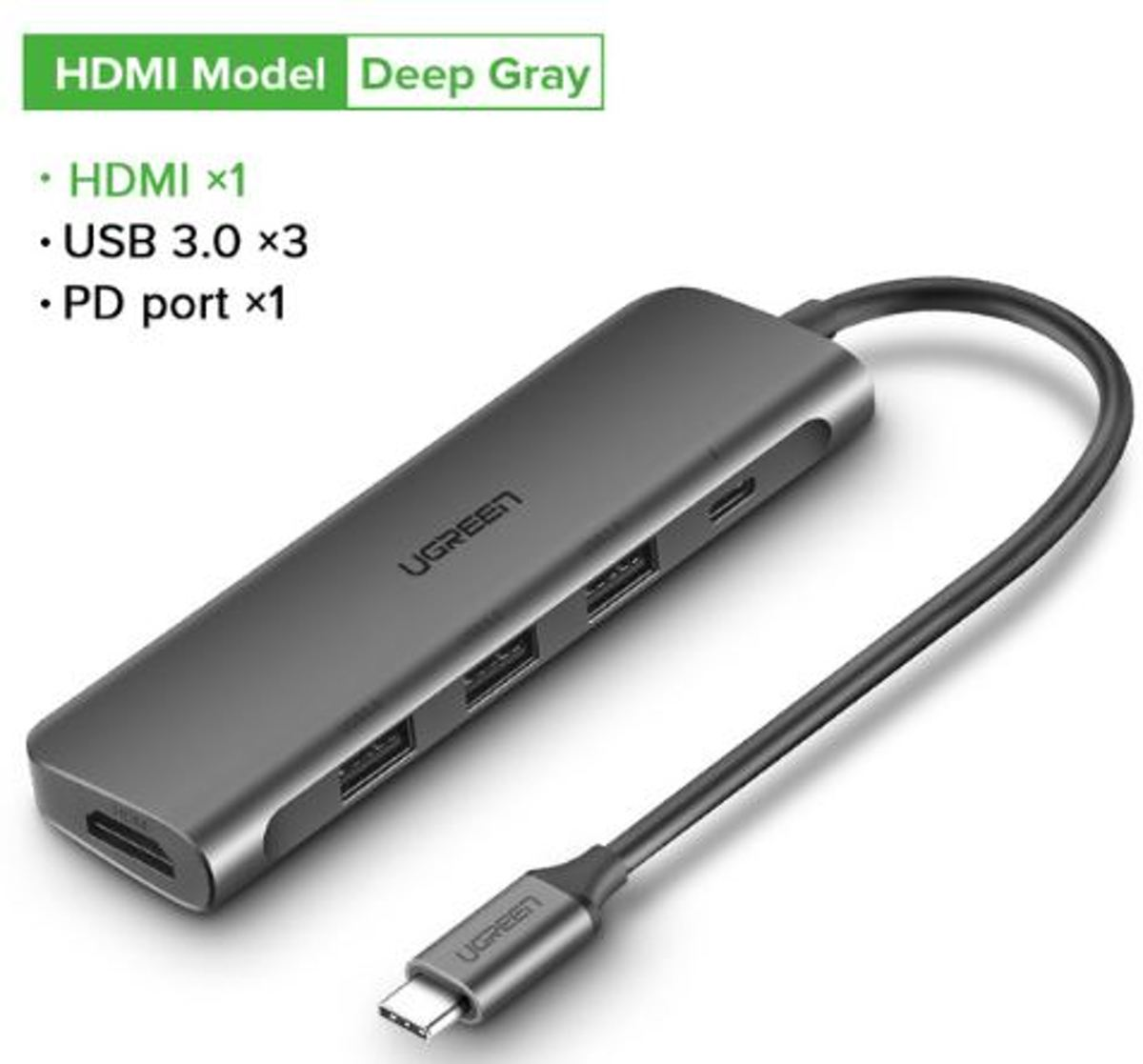 USB-C Docking Station   - HDMI 4K, USB-C en 3x USB 3.0 - MacBook (Thunderbolt 3) en Laptops