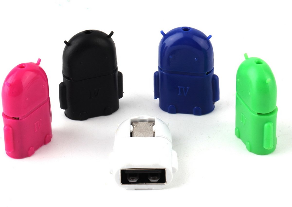 Micro USB naar USB adapter converter. Plug & Play! WIT-