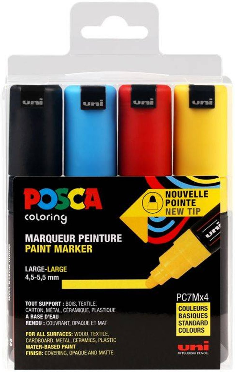 Posca set PC7M/4A ASS30