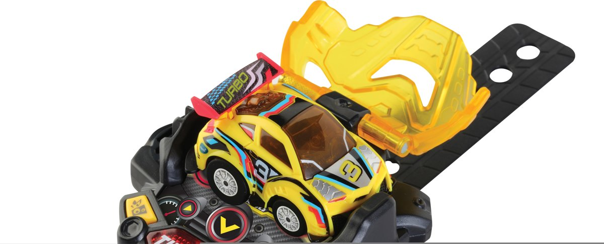 VTech Turbo Force Racers Yellow Racer - Raceauto