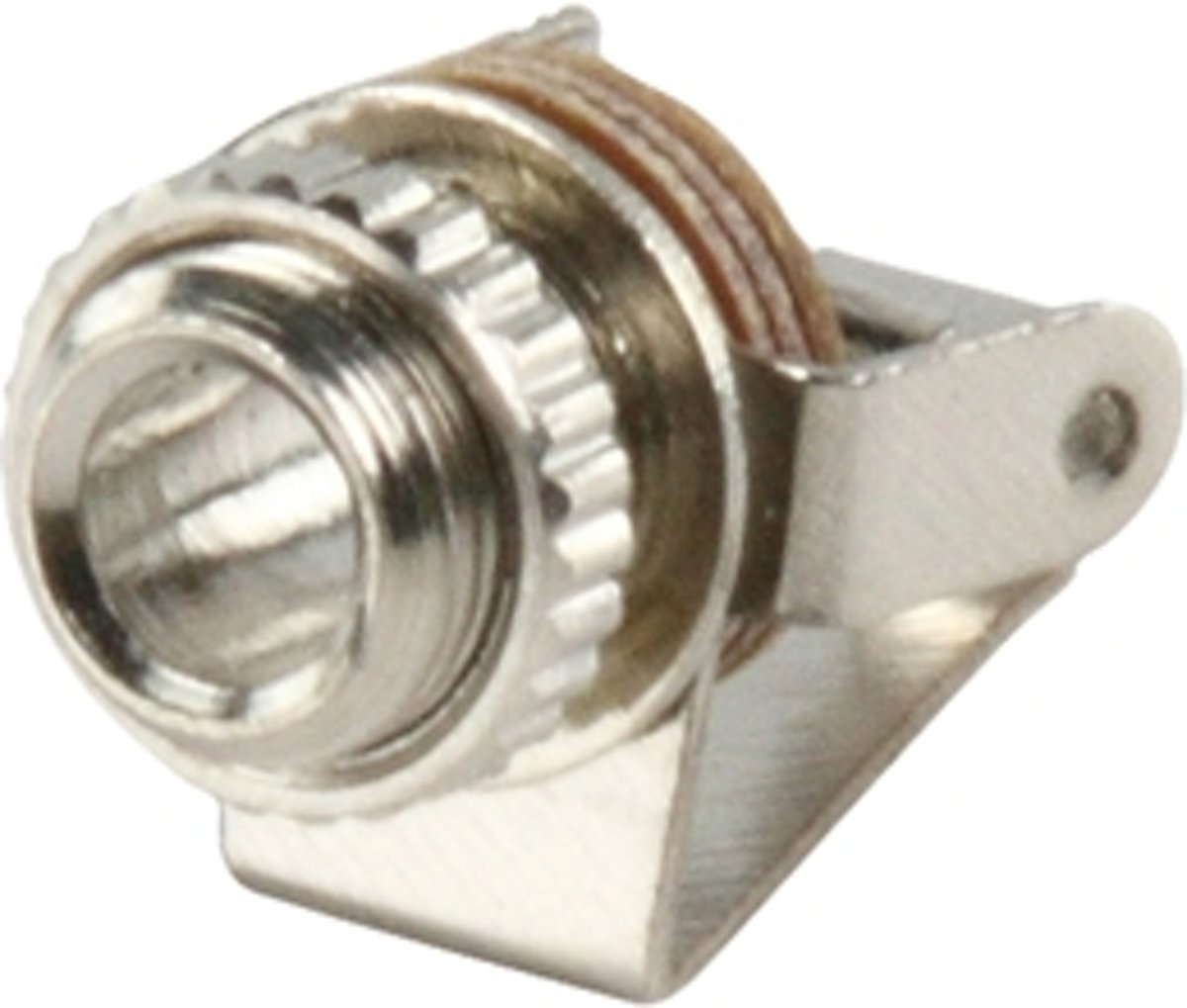 JC-022 3.5mm mono (F) Zilver kabel-connector