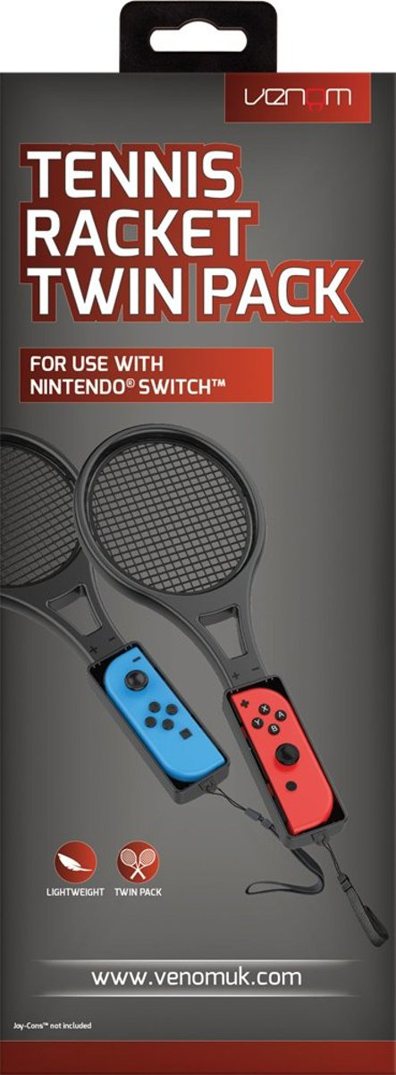 Venom Tennis Rackets Twin Pack for Nintendo Switch