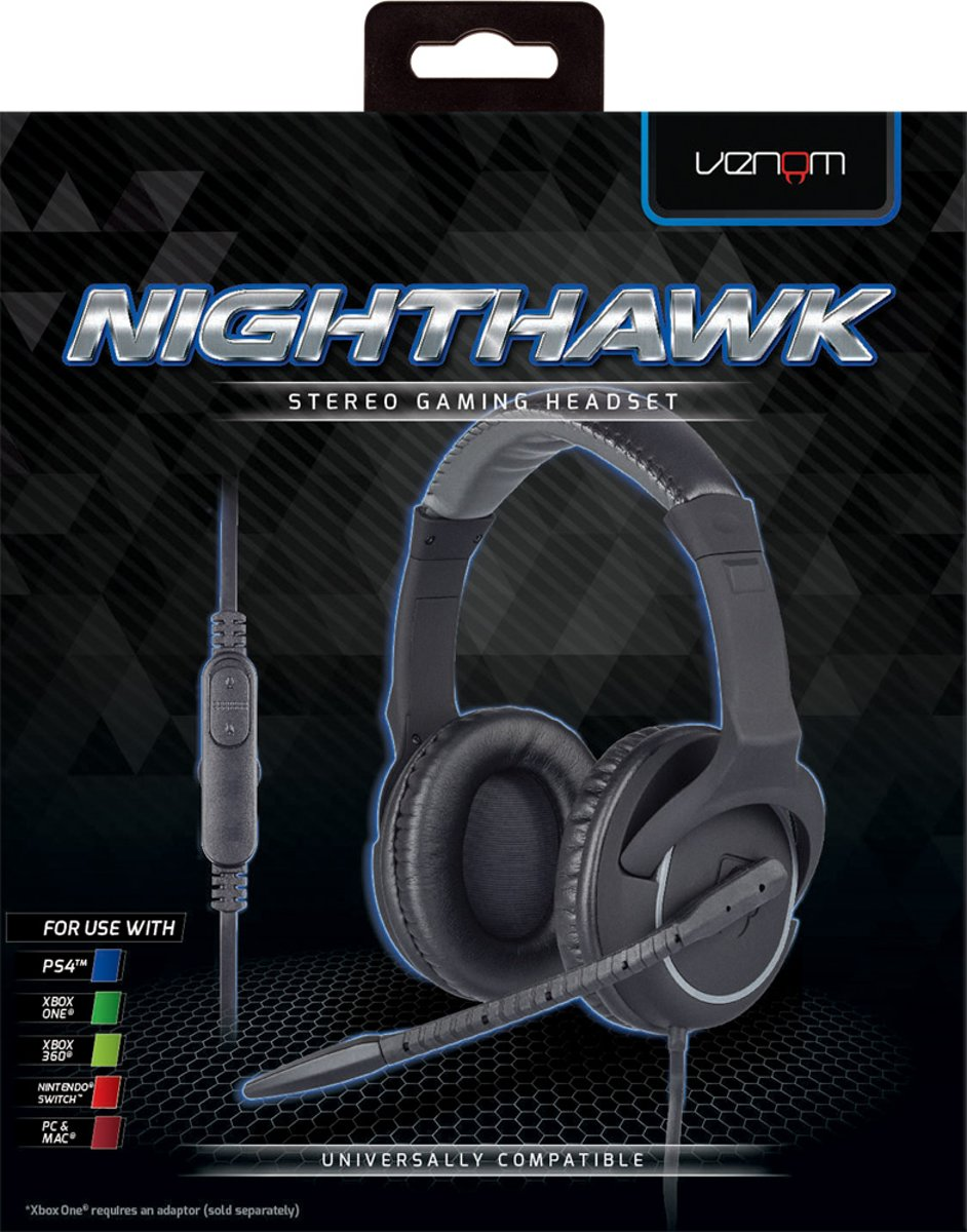Venom Nighthawk Stereo Gaming Headset for PS4Xbox OneSwitchPC Mac