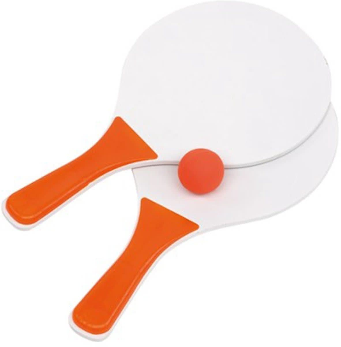 Beachball set - Oranje-Wit - 37.5x23.5cm - Strandbal tennis