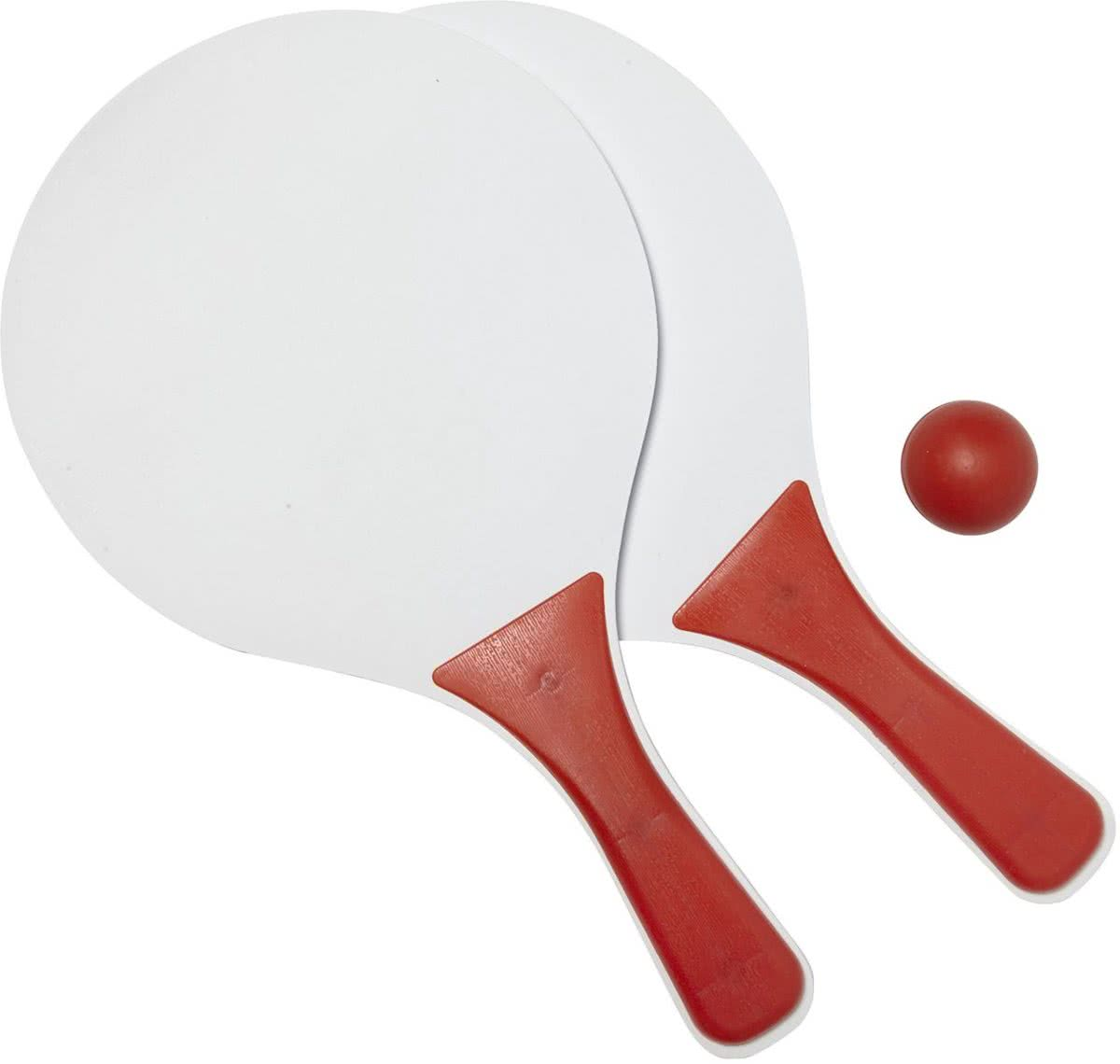 Beachball set - Rood-Wit - 37.5x23.5cm - Strandbal tennis