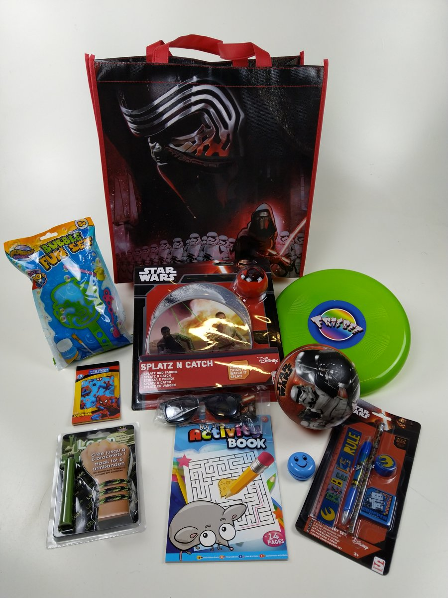 Star Wars Goodiebag - Zwart/Rood - Kylo Ren + Troopers Dark