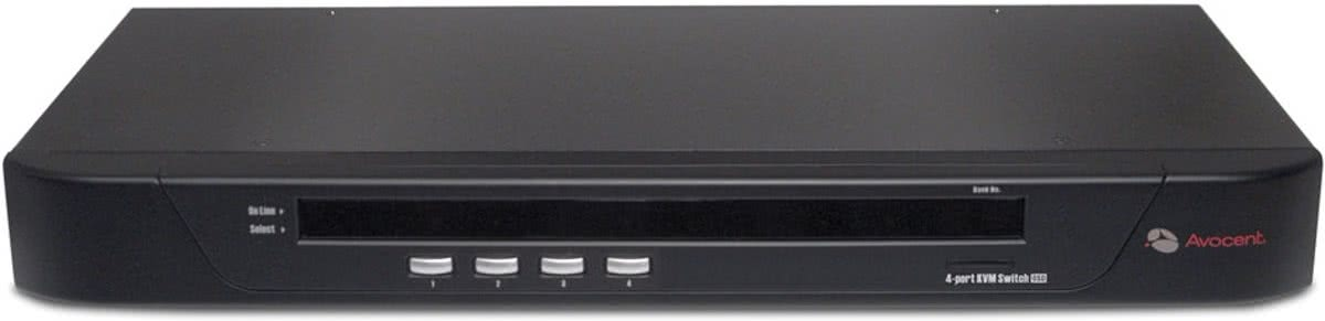 Avocent SwitchView 1000 4-port KVM Switch 1U Zwart