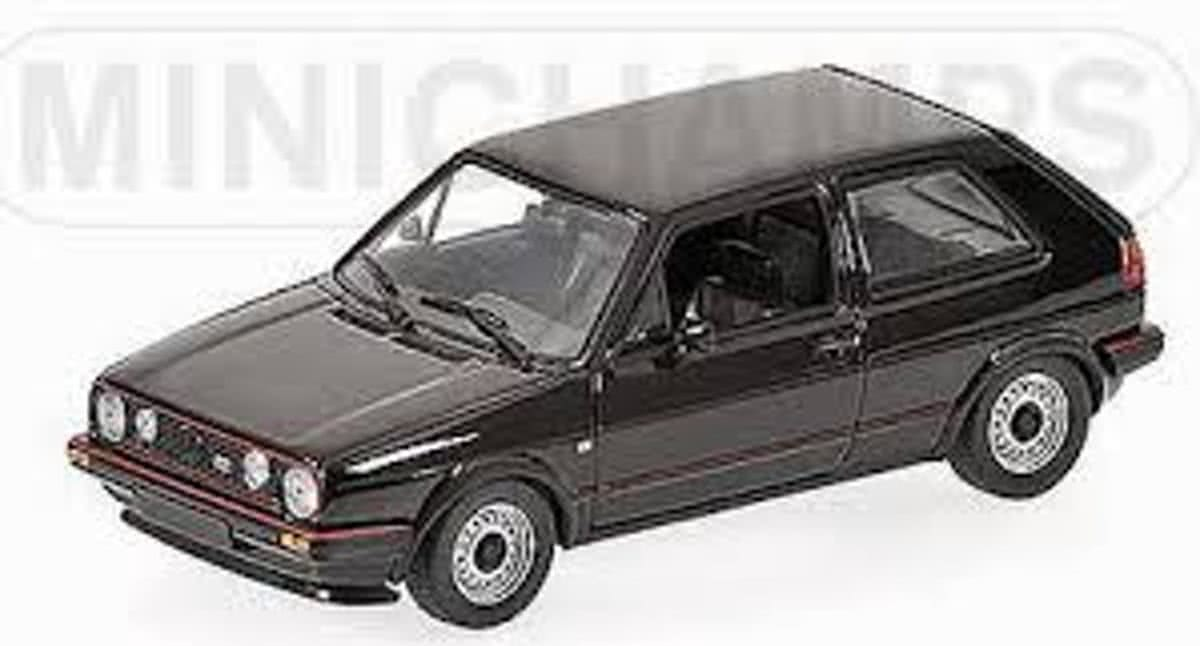 Volkswagen Golf II GTi 1985 Zwart 1-43 Minichamps Limited 1344 Pieces