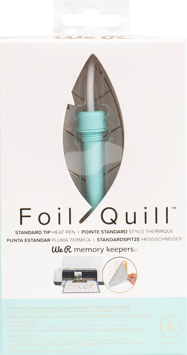 FOIL QUILL HEAT ACTIVATED PEN | STANDARD TIP | WE R MEMORY KEEPERS | HITTEFOLIE TECHNIEK V SILHOUETTE CRICUT BROTHER EN SIZZIX | HEAT TOOL HOBBYGEREEDSCHAP