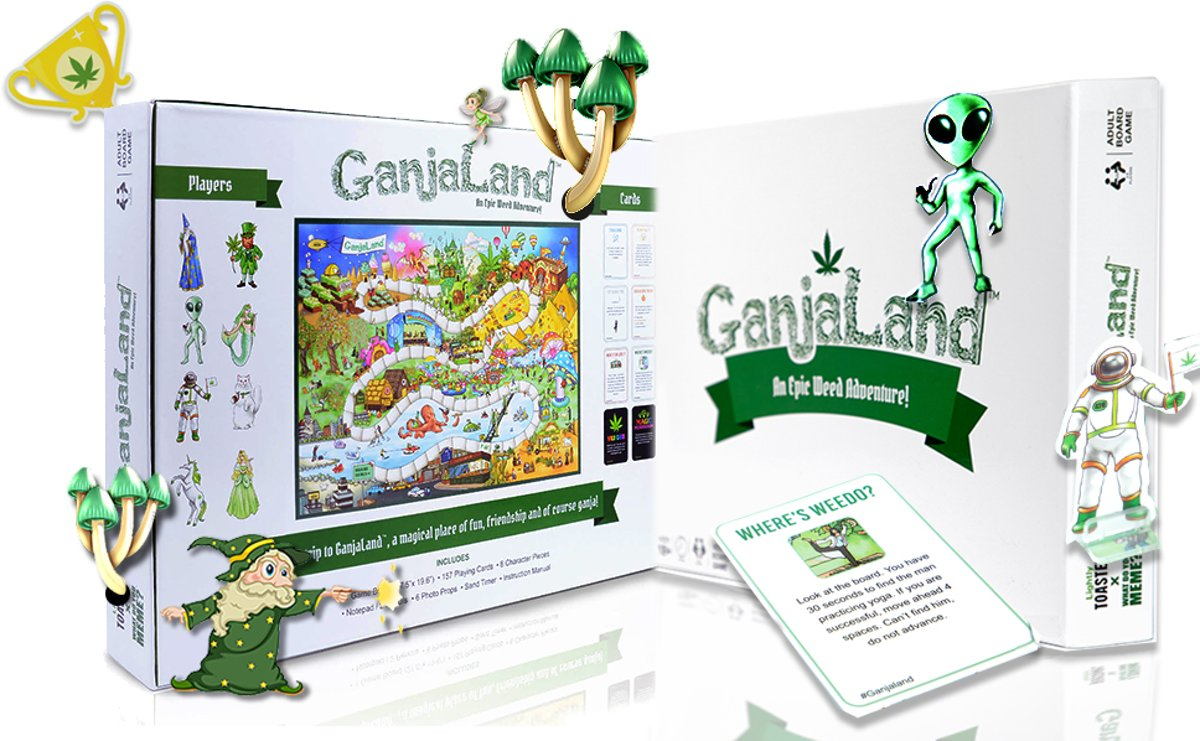 GanjaLand An Epic Weed Adventure! Party Game