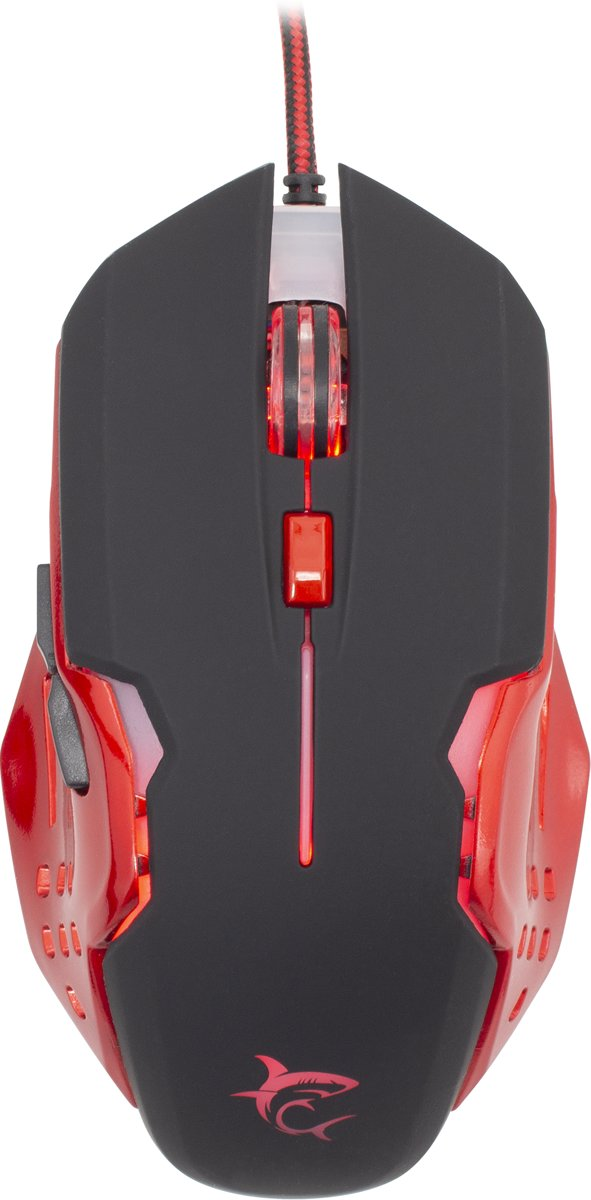 Attila Black/Red 3200 DPI gaming muis